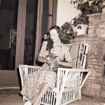 Image of Actress Sigrid Gurie and Pet Ocelots - 1941/07/04