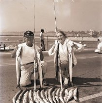 Image of White Sea Bass Catch, Santa Monica Pier - 1957