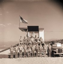 Image of Lifeguards on Santa Monica Beach, 1953 - 1953/09/01