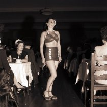 Image of Model in Bathing Costume at Breakfast Club Fashion Show, 1945 - 1945/05/11