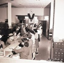 Image of Women Tellers at Security-First National Bank, 1944 - 1944/12/14
