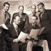 Image of Group of Douglas Engineers Consult for Army, 1948 - 1948/11/15