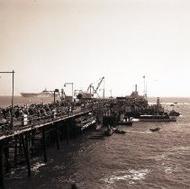 Image of Valley Forge Aircraft Carrier at the Pier, 1949 - 1949/07/03