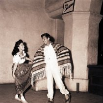 Image of Mary Biaz and Eliseo Mireles Rehearse for Club Latino Juvenil Dance, 1941 - 1941/06/05