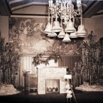 Image of Christmas Decorations Adorning Del Mar Club Interior, 1942 - 1942/12/14