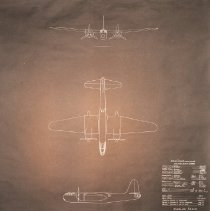 Image of Blueprint for Twin Engine High Speed Attack Bomber, 1940 - 1940/04/19