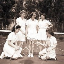 Image of Teenage Girls from Dudley Cup Tournament, 1945 - 1945/03/29