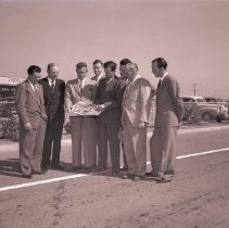 Image of Dignitaries View Completion of Santa Monica Airport Expansion, 1948 - 1948/09/27