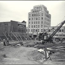 Image of Excavation for Henshey's Department Store Addition, 1936 - 1936/07/27