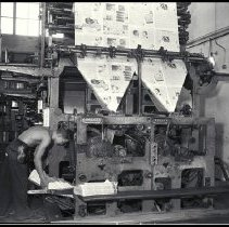 Image of Printing Press at the Outlook Newpaper, 1930s - 1930s