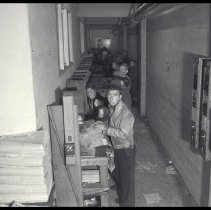 Image of Paper Boys at the Outlook Newspaper, 1937 - 1937/01/28