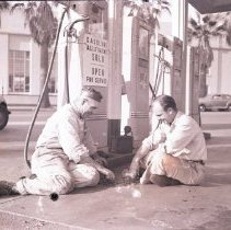 Image of Service Station Out of Gas, 1945 - 1945/01/12