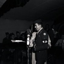 Image of Bandleader Kay Kyser Entertains Troops, 1944 - 1944/04/26