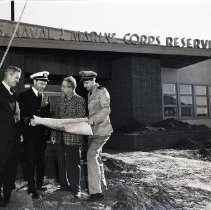 Image of Inspection of the Naval Armory, 1950 - 1950/01/25