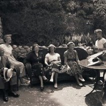Image of Governor Earl Warren and Family at Uplifter's Ranch, 1948 - 1948/08/01