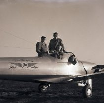 Image of Mayor Schafer and Daughter in Airplane, 1946 - 1946/12/30
