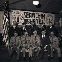 Image of Veterans Service League Officers, 1945 - 1945/01/04