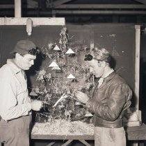 Image of Scrap Metal Christmas Tree, 1944 - 1944/12/18