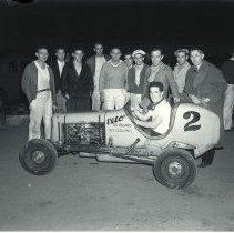 Image of Auto Racer Ray Schafer in his Midget Race Car - 1936/05/31