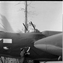 Image of Douglas Bomber (A-20) in World War II Bond Drive - 1944/02/01