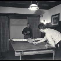 Image of Playing Ping Pong in New YMCA Building, 1936 - 1936/10/14