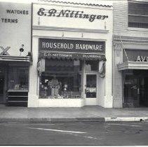 Image of E.P. Nittinger Hardware Store, Third Street - 1936/07