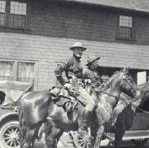 Image of Beneres and MacIntyre on Horseback - 1925/06/06