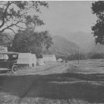 Image of Car and Dwellings in Santa Monica Canyon - undated
