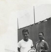 Image of Moylan and Moran at Tennis Club - circa 1946