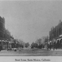 Image of Third Street and Santa Monica Boulevard, Santa Monica - early 1900s