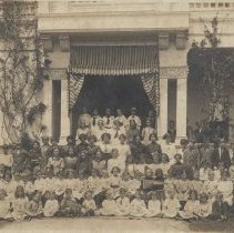 Image of Children and Staff of the Academy of Holy Names - undated