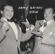 Image of Wrestler Baron Michele Leone with Lawrence Welk - undated