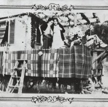 Image of Perfecto Marquez on Pioneer Day Parade Float - undated