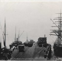 Image of Vessels Docked at Long Wharf - undated