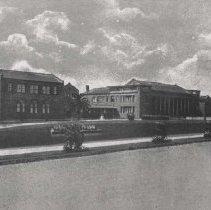 Image of Artist's Rendering of Santa Monica High School - undated