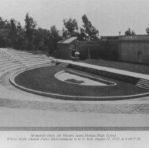 Image of Memorial Greek Theater, Santa Monica High School, 1928 - circa 1928