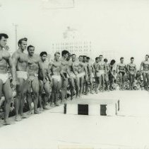Image of Bodybuilding Contest at Muscle Beach - undated