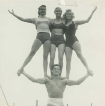 Image of Muscle Beach Gymnasts - 1950s