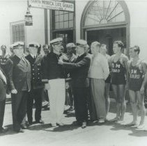 Image of Buster Crabbe Sworn in as Santa Monica Lifeguard - 1936