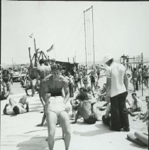 "Image of ""Summer School"" at Muscle Beach - mid 1900s"