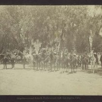 Image of Brigadier-General John R. Matthews and His Staff on Their Mounts - 1886/07/04