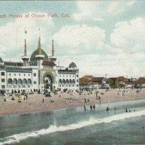 Image of Postcard of Ocean Park Bath House - undated