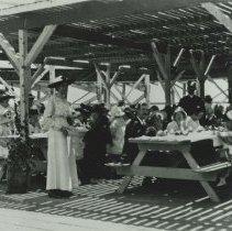 Image of Picnicking at Looff Pier, Santa Monica - circa 1917