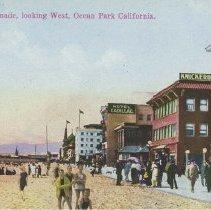 Image of Postcard of the Beach and Promenade in Ocean Park -