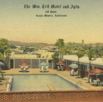 Image of Postcard of Wm. Tell Motel and Apartments, Santa Monica - undated