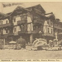 Image of Postcard of Seaside Terrace Apartments and Hotel, Ocean Park - undated
