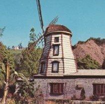 Image of Postcard of Windmill at SRF Lake Shrine, Pacific Palisades - undated