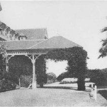 Image of Main Entrance to the Arcadia Hotel - undated