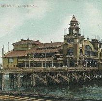 Image of Postcard of Venetian Gardens Auditorium, Abbot Kinney Pier - undated