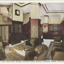 Image of Postcard of the Ocean Park Hotel Lobby and Writing Room - undated